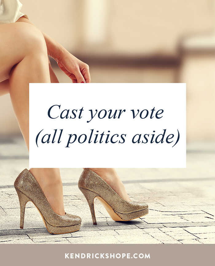 Cast your vote (all politics aside) - Kendrick Shope, CEO and Creator Authentic Selling ®, Creator Of The Leading Sales Training For Women Owned Businesses - kendrickshope.com - #AuthenticSelling #salestip #sales #entrepreneurs #biztip #ladyboss #makemoney