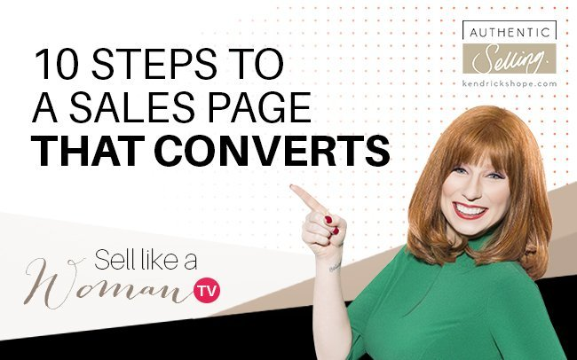 10 Steps To A Sales Page That Converts