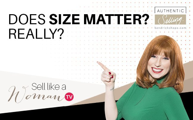 Does Size Matter?  Really?