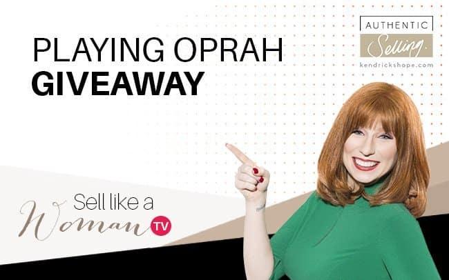 Playing Oprah Giveaway
