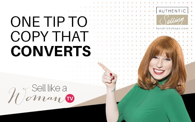 One Tip To Copy That Converts