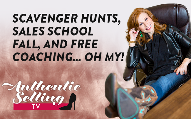Scavenger Hunts, Sales School Fall, and Free Coaching…OH MY!